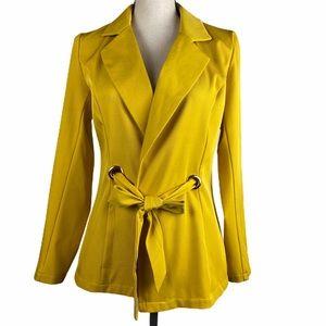 CBR Yellow Jacket Tie Waist Lightweight NWT